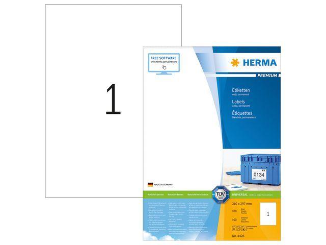 Herma Etiket ILC 210x297 prem wit/pk 100