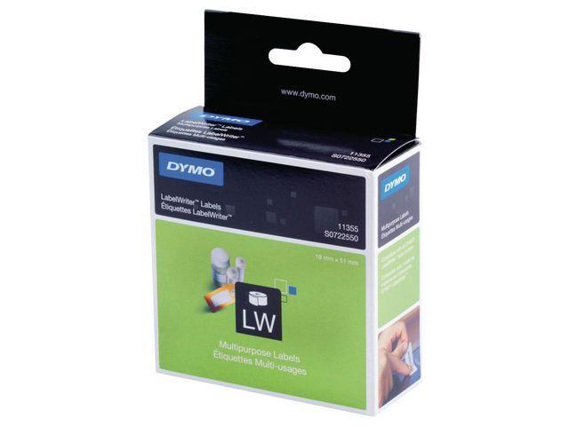 Dymo Etiket Dymo LW 51x19 niet perm wt/rl500