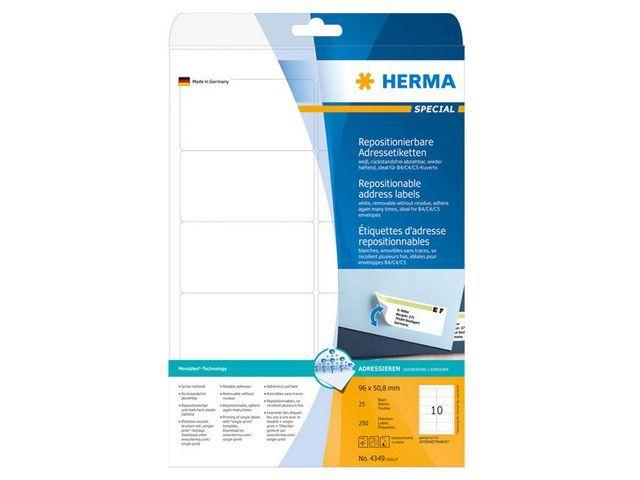 Herma Etiket ILC 96x51 afn. wit/pak 250