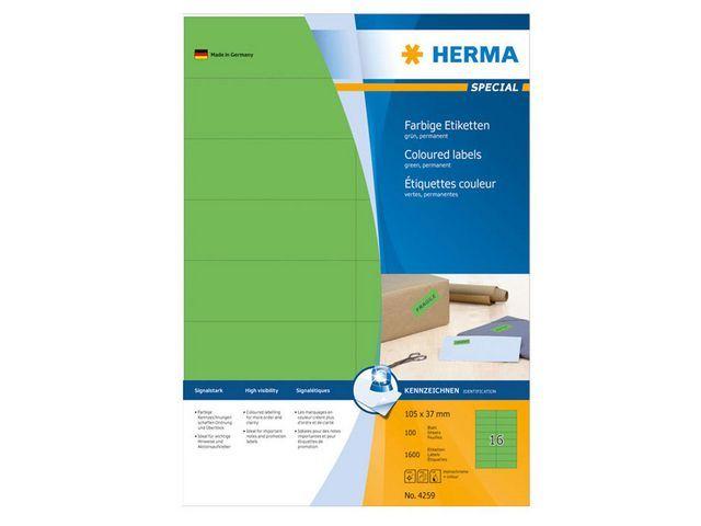Herma Etiket ILC 105x37 groen/pak 1600