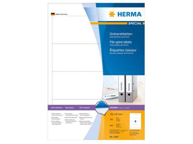 Herma Rugetiket ILC 192x61 wit/pak 400