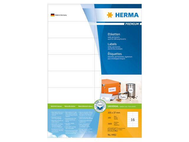 Herma Etiket ILC 105x37 prem wit/pk 1600