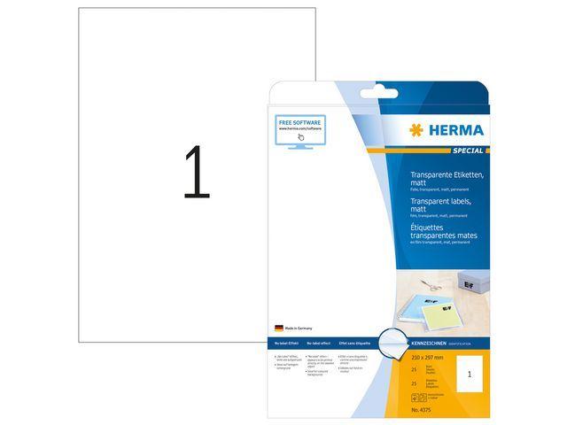 Herma Etiket LC 210x297 transp/pak 25