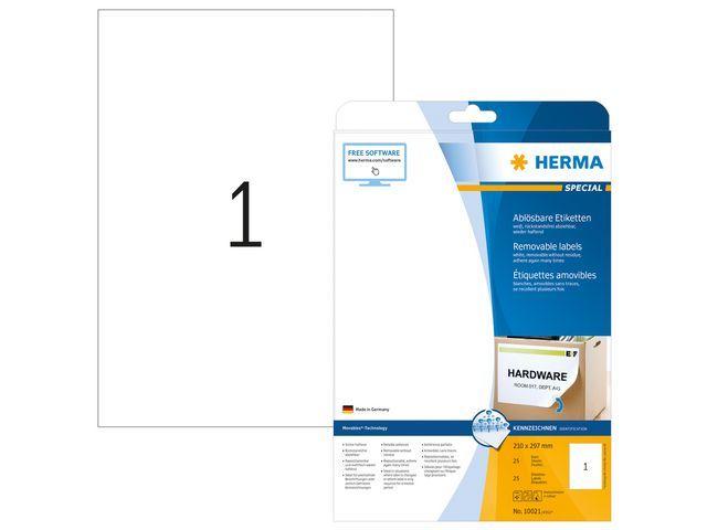 Herma Etiket ILC 210x297 afn. wit/pak 25