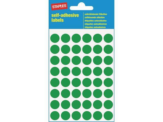 Staples Etiket SPLS 12mm rond groen/pk 240