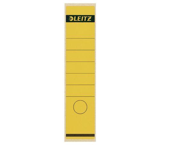 Leitz Rugetiket Leitz 1640 lang-breed geel/p10