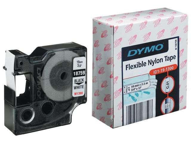Dymo Tape Dymo Rhino 19mm nylon wit