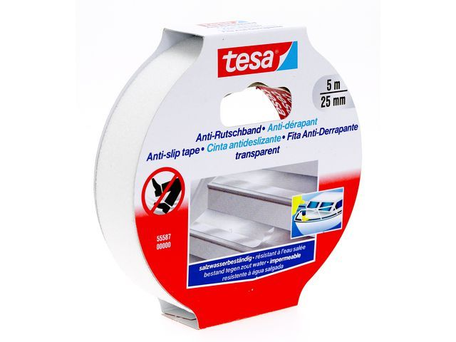 tesa® tesa® Anti-slip tape 25 mm x 5 m. transparant (rol 5 meter)