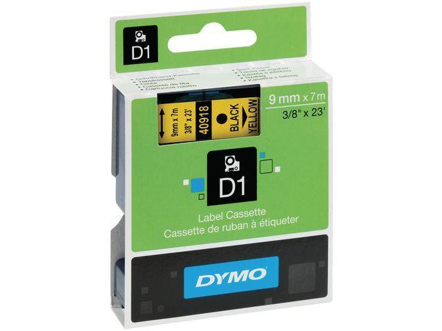 Dymo Tape Dymo 40918 9mm zwart/geel