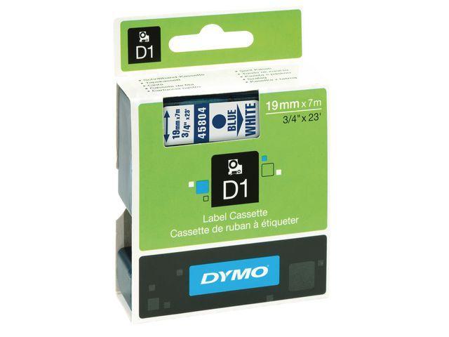 Dymo Tape Dymo 45804 19mm blauw/wit