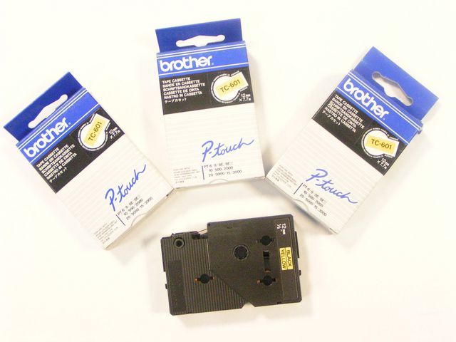 P-Touch Tape P-Touch TZ345 18MM wit op zwart