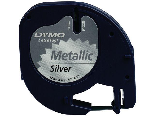 Dymo Tape Dymo LetraTeg metaal 12mmx4m zilver