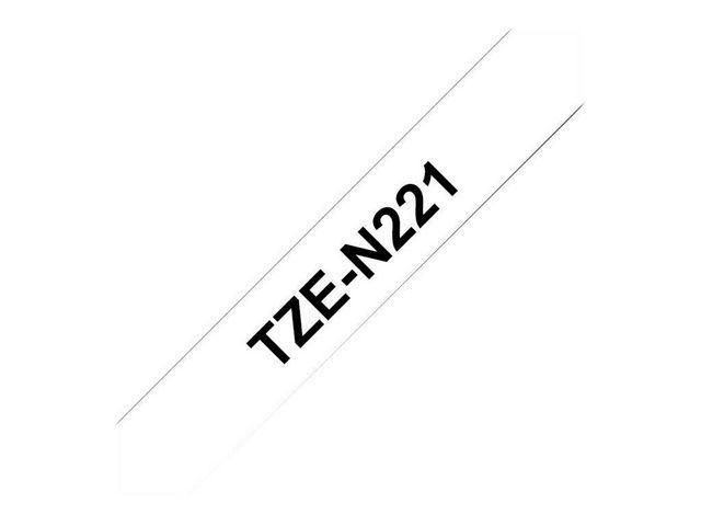 P-Touch Tape P-Touch TZ-N221 9mm zwart op wit