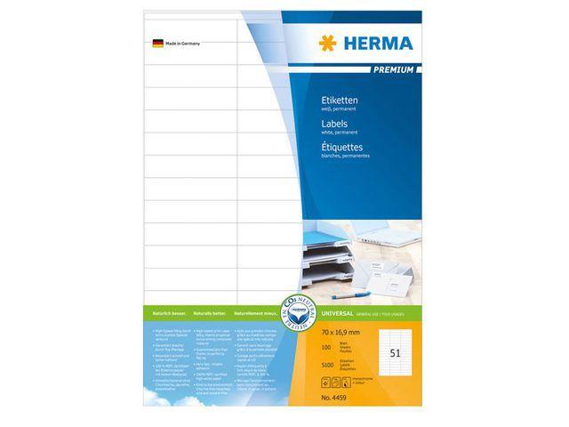 Herma Etiket ILC 70x17 prem wit/pak 5100