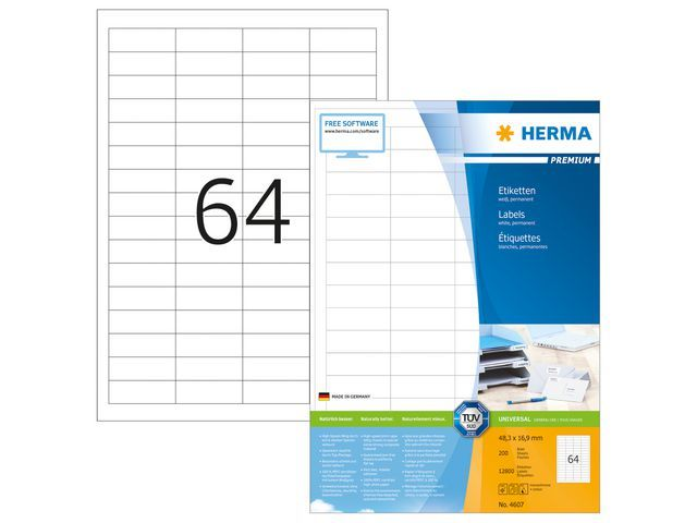 Herma Etiket ILC 48x17 prem wit/pk 12800