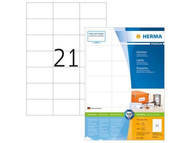 Herma Etiket ILC 70x42 prem wit/pak 4200