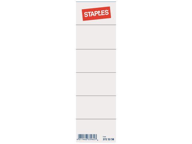 Staples Rugetiket SPLS 80mm kort wit/pak 10