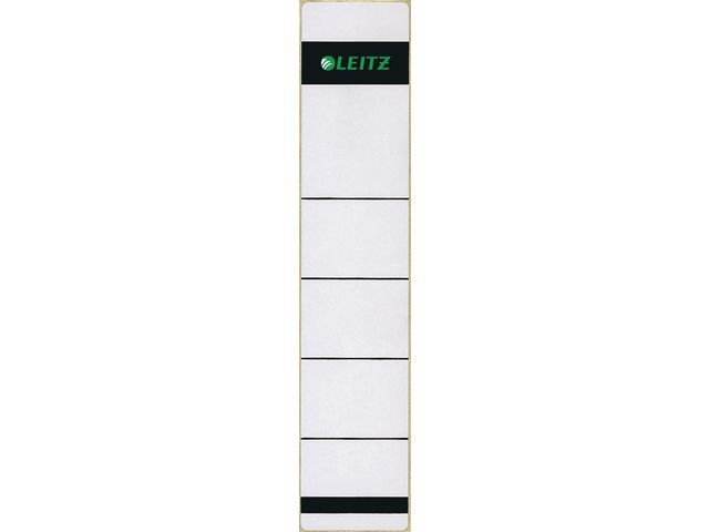 Leitz Rugetiket Leitz 1643 kort-smal grijs/p10