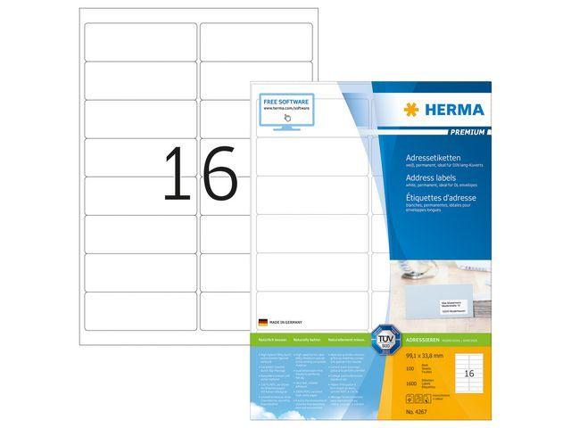 Herma Etiket ILC 99x34 prem wit/pak 1600