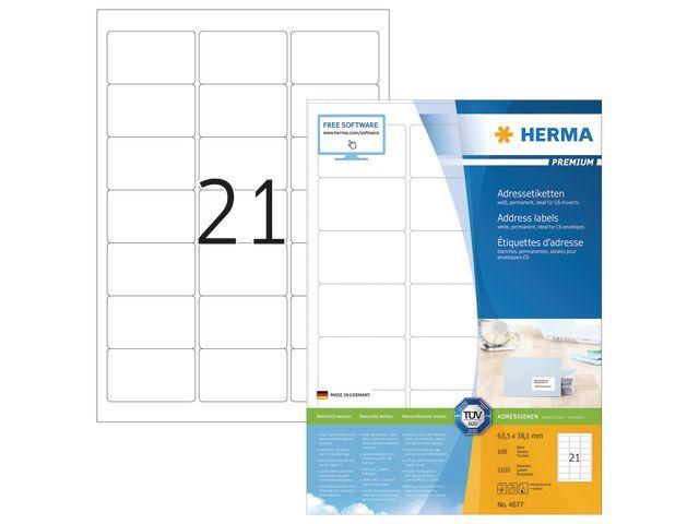 Herma Etiket ILC 64x38 prem wit/pak 2100