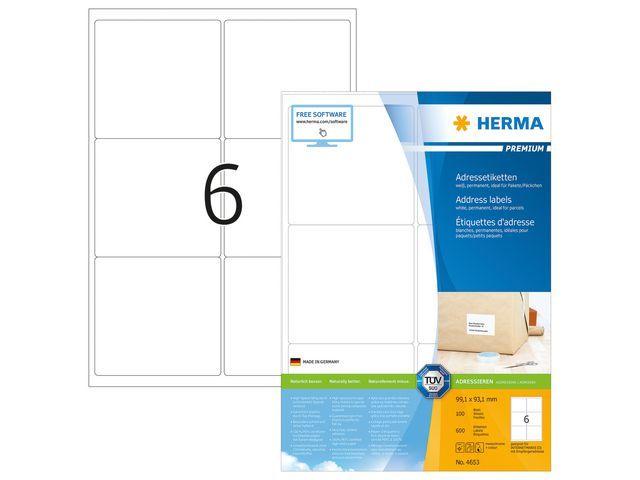 Herma Etiket ILC 99x93 prem wit/pak 600