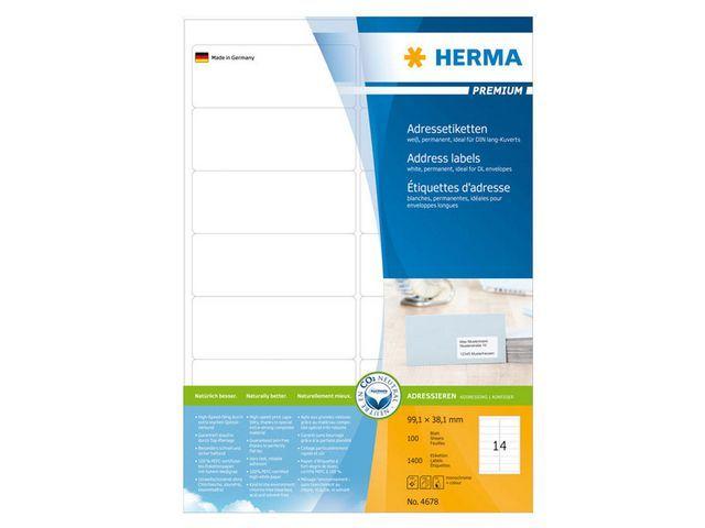 Herma Etiket ILC 99x38 prem wit/pak 1400