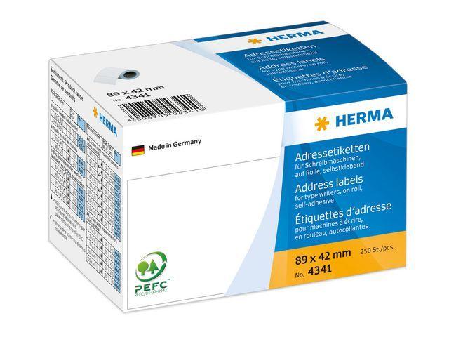 Herma Etiket HERMA ILK 89x42 wit/rol 250