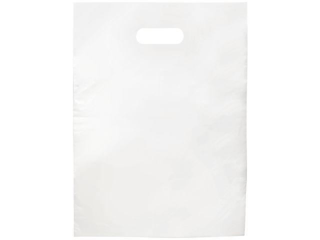 Draagtas plastic wit/doos 500