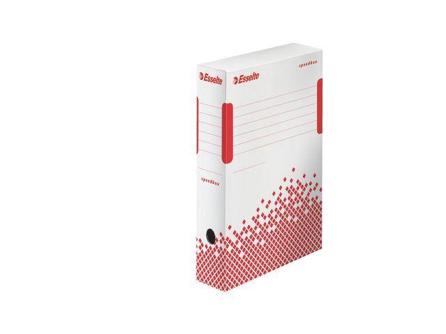 Esselte Esselte Archiefdoos Speedbox 350 x 250 x 80 mm. wit/rood (doos 25 stuks)