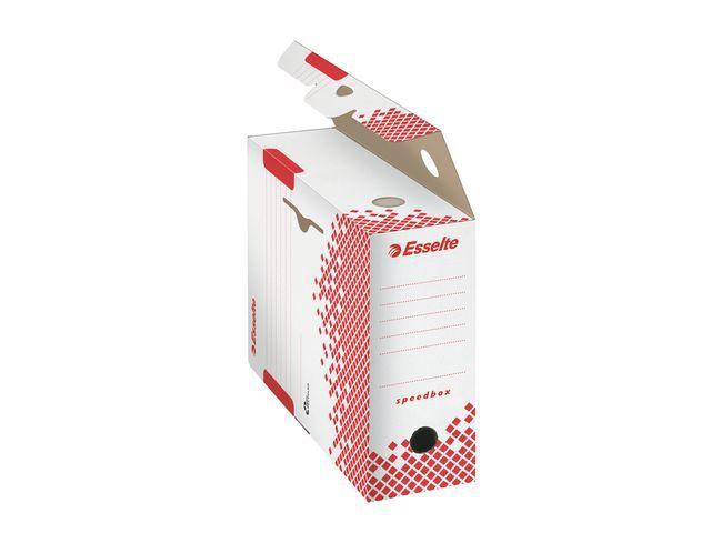 Esselte Esselte Archiefdoos Speedbox 350 x 250 x 100 mm. wit/rood (pak 25 stuks)