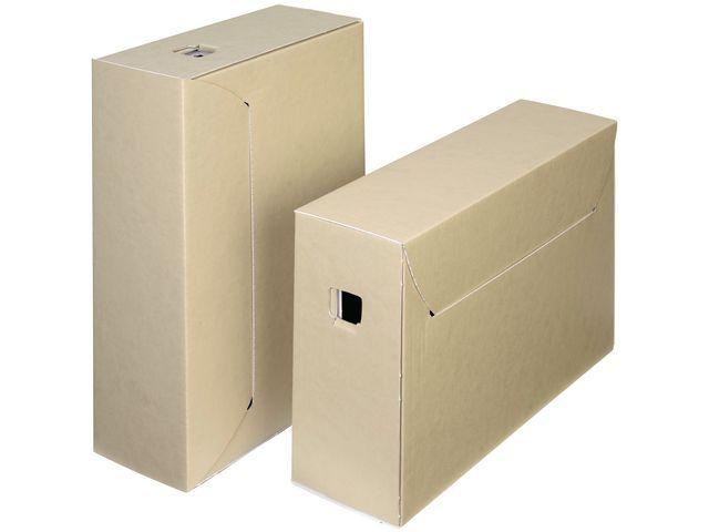 Loeff's Patent Loeff's Patent Citybox zuurvrije archiefdoos ICN 3. 30 jaar of langer. bruin/wit (pak 50 stuks)