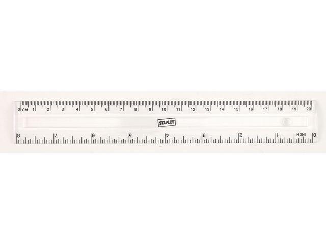 Staples Liniaal SPLS 200 mm transparant