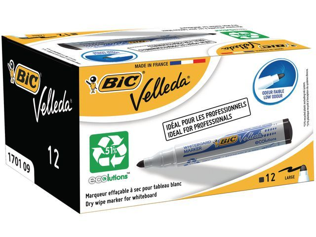 BiC Whiteboardmarker Velleda Eco 1701 zw/d12
