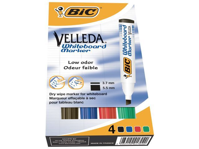 BiC Whiteboardmarker Velleda ECO 1751 ass/d4