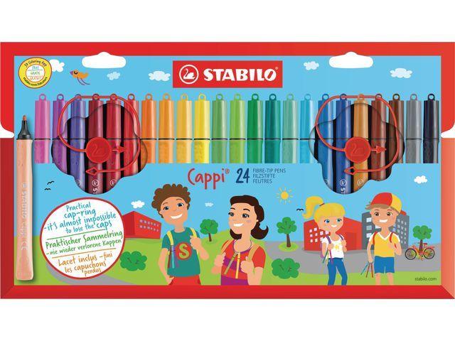 STABILO Viltstift Stabilo Cappi assorti/pk24