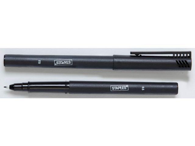 Staples Fineliner SPLS 0.5mm zwart/doos 10