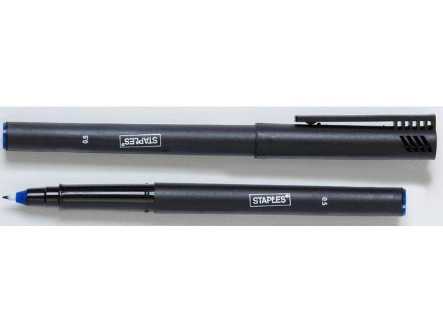 Staples Fineliner SPLS 0.5mm blauw/doos 10