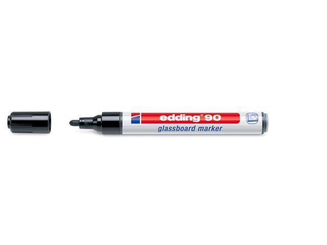 Edding Marker Edding 90 zwart/bx10