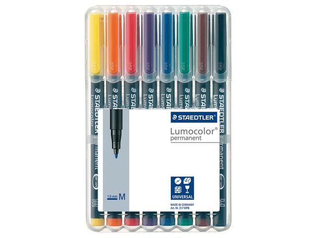 Lumocolor OHP/CD/DVDmarker Lc317 M ass/etui 8