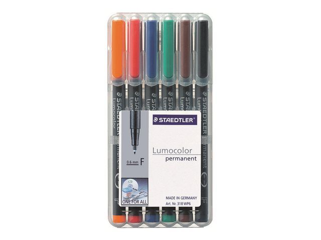 Lumocolor OHP/CD/DVDmarker Lc318 F ass/etui 6