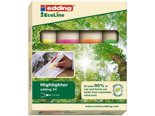 Edding Tekstmarker edding 24 eco 2-5 mm ass/et4