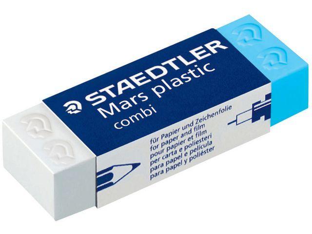 Staedtler Mars Gum Mars PP combi 65 x23 x13 blauw/wit