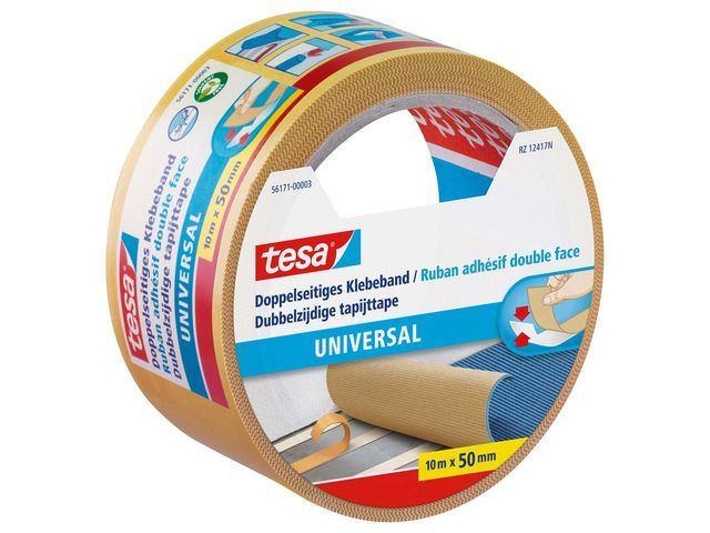 tesa® Tapijttape universeel 2-zijdig 50mmx10m