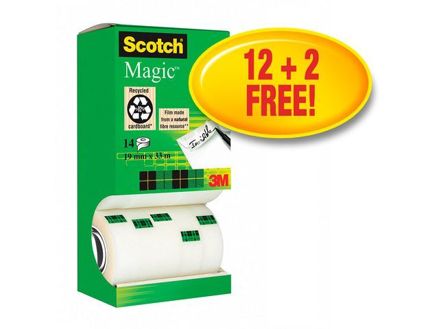 Scotch® Plakband magic Scotch 810 19mmx33m/ds14r