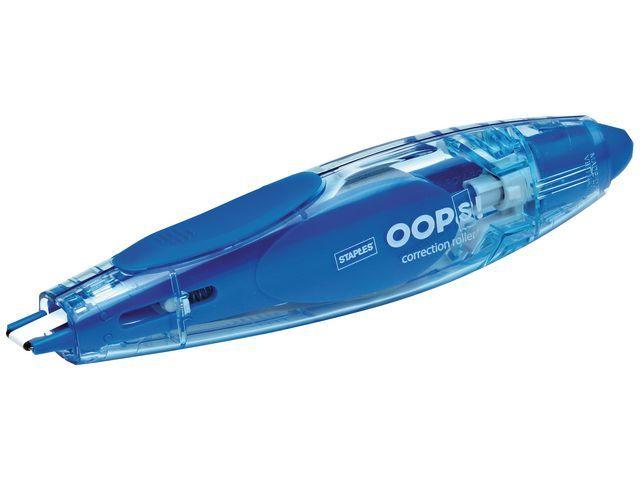 Staples Correctiepen OOPS 5mmx6m blauw-grijs/pk2
