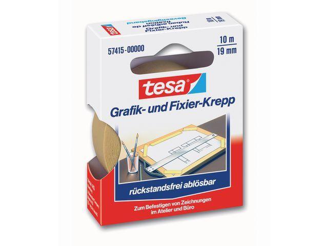 tesa® tesa® Afplaktape 19 mm x 10 m. asgat 25 mm (rol 10 meter)