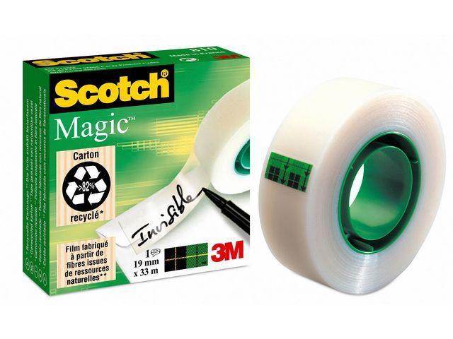 Scotch® Plakband magic Scotch 810 19mmx33m/pk6rl