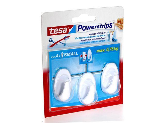 tesa® Powerstrip haken tesa Small ovaal wt/pk3