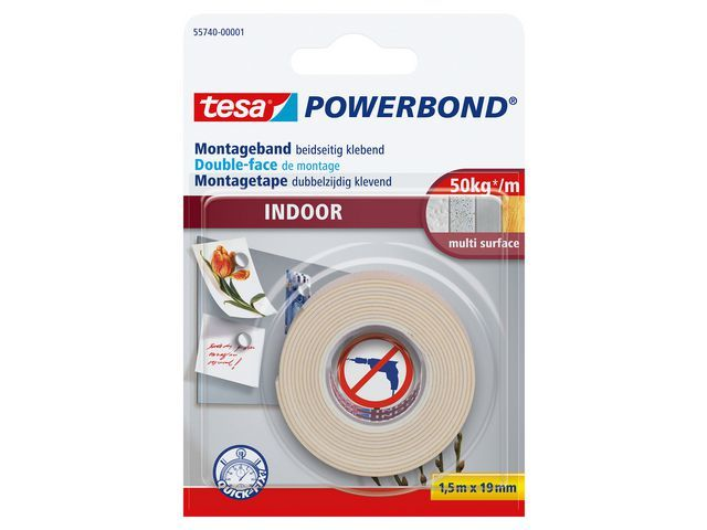 tesa® Klussentape Powerbond Indoor 1.5mx19mm