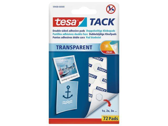 tesa® Kleefpads dubbelzijdig tr/pk72